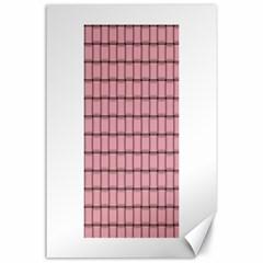 Light Pink Weave Canvas 24  x 36  (Unframed)