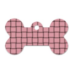 Light Pink Weave Dog Tag Bone (Two Sided)