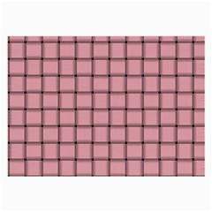 Light Pink Weave Glasses Cloth (Large, Two Sided)