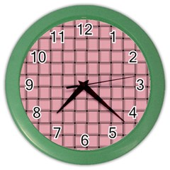 Light Pink Weave Wall Clock (Color)
