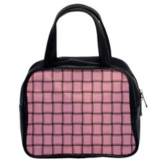 Light Pink Weave Classic Handbag (Two Sides)