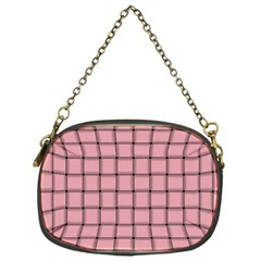 Light Pink Weave Chain Purse (one Side)