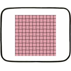Light Pink Weave Mini Fleece Blanket (Two-sided)