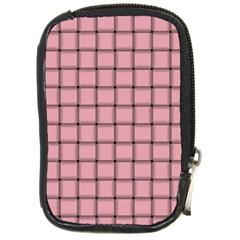 Light Pink Weave Compact Camera Leather Case