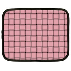 Light Pink Weave Netbook Case (XL)