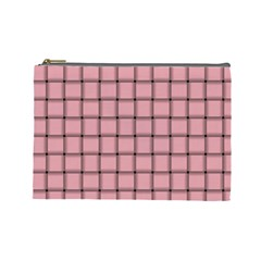 Light Pink Weave Cosmetic Bag (large)