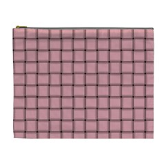 Light Pink Weave Cosmetic Bag (XL)