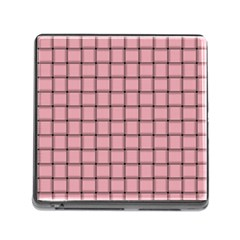 Light Pink Weave Memory Card Reader With Storage (square)