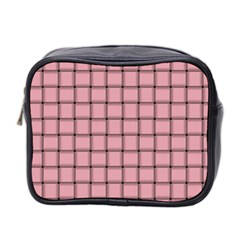 Light Pink Weave Mini Travel Toiletry Bag (Two Sides)