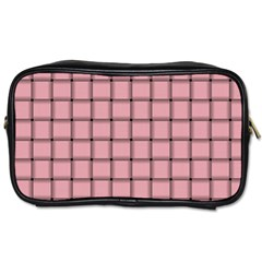 Light Pink Weave Travel Toiletry Bag (One Side)