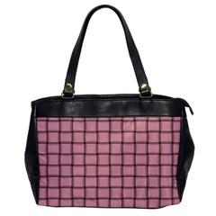 Light Pink Weave Oversize Office Handbag (One Side)