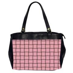 Light Pink Weave Oversize Office Handbag (Two Sides)