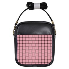 Light Pink Weave Girl s Sling Bag