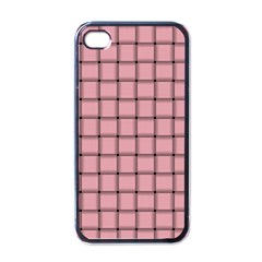 Light Pink Weave Apple iPhone 4 Case (Black)