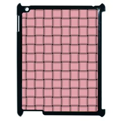 Light Pink Weave Apple iPad 2 Case (Black)