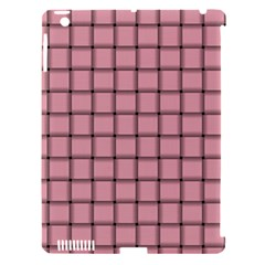 Light Pink Weave Apple Ipad 3/4 Hardshell Case (compatible With Smart Cover)