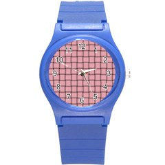 Light Pink Weave Plastic Sport Watch (small)