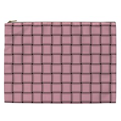 Light Pink Weave Cosmetic Bag (XXL)