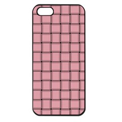 Light Pink Weave Apple Iphone 5 Seamless Case (black)