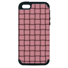 Light Pink Weave Apple iPhone 5 Hardshell Case (PC+Silicone)