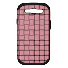 Light Pink Weave Samsung Galaxy S III Hardshell Case (PC+Silicone)