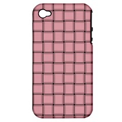 Light Pink Weave Apple iPhone 4/4S Hardshell Case (PC+Silicone)