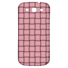 Light Pink Weave Samsung Galaxy S3 S III Classic Hardshell Back Case