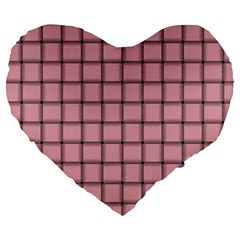 Light Pink Weave 19  Premium Heart Shape Cushion
