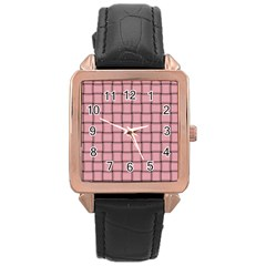 Light Pink Weave Rose Gold Leather Watch