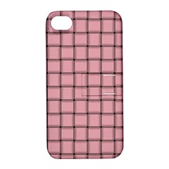 Light Pink Weave Apple iPhone 4/4S Hardshell Case with Stand