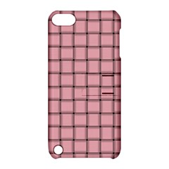 Light Pink Weave Apple Ipod Touch 5 Hardshell Case With Stand