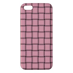 Light Pink Weave iPhone 5 Premium Hardshell Case