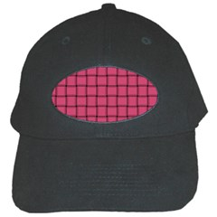 Dark Pink Weave Black Baseball Cap