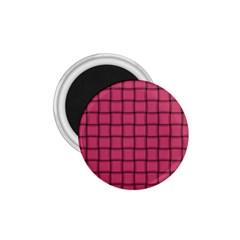 Dark Pink Weave 1 75  Button Magnet