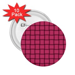 Dark Pink Weave 2 25  Button (10 Pack)