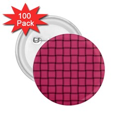 Dark Pink Weave 2.25  Button (100 pack)