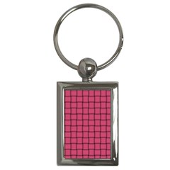Dark Pink Weave Key Chain (Rectangle)