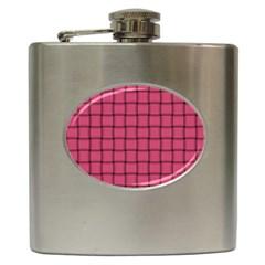 Dark Pink Weave Hip Flask