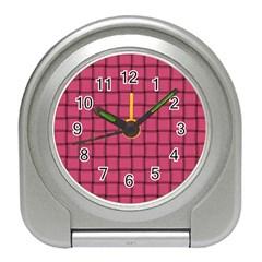 Dark Pink Weave Desk Alarm Clock