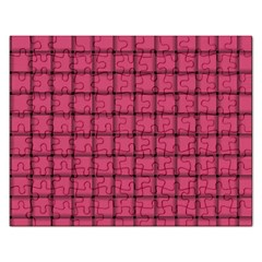 Dark Pink Weave Jigsaw Puzzle (rectangle)