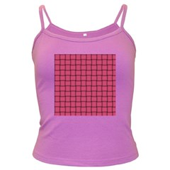 Dark Pink Weave Spaghetti Top (colored)