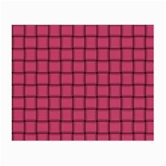 Dark Pink Weave Glasses Cloth (Small)
