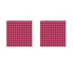 Dark Pink Weave Cufflinks (square)