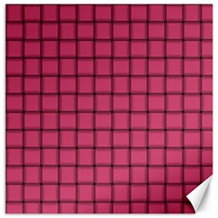 Dark Pink Weave Canvas 20  x 20  (Unframed)
