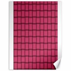 Dark Pink Weave Canvas 18  x 24  (Unframed)