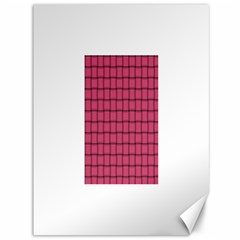 Dark Pink Weave Canvas 36  x 48  (Unframed)