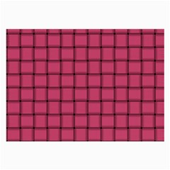Dark Pink Weave Glasses Cloth (Large, Two Sided)