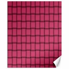 Dark Pink Weave Canvas 11  x 14  9 (Unframed)