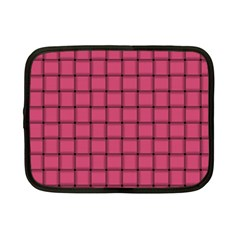 Dark Pink Weave Netbook Case (Small)