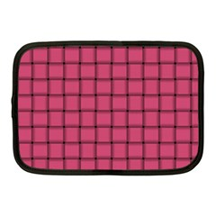 Dark Pink Weave Netbook Case (medium)